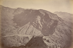 Shadi Begiar, mouth of Khyber, from Sarkai Hill, left of pass.